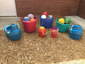 Some of the extra toys for playground use